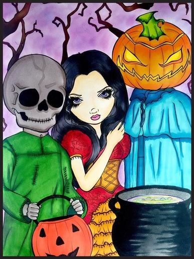 Halloween Coloring Book by Jasmine BecketGriffith