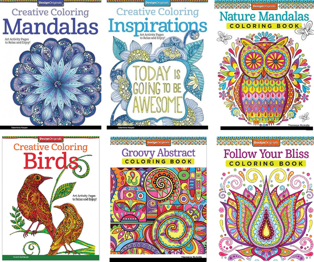 Design Originals Creative Coloring Books By Thaneeya McArdle Valentina Harper