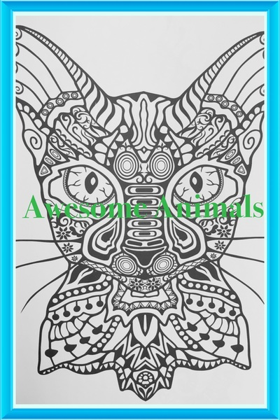 Awesome Animals And The Bizarre Coloring Book For Adults By Penny