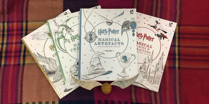 The Harry Potter Colouring Book Series