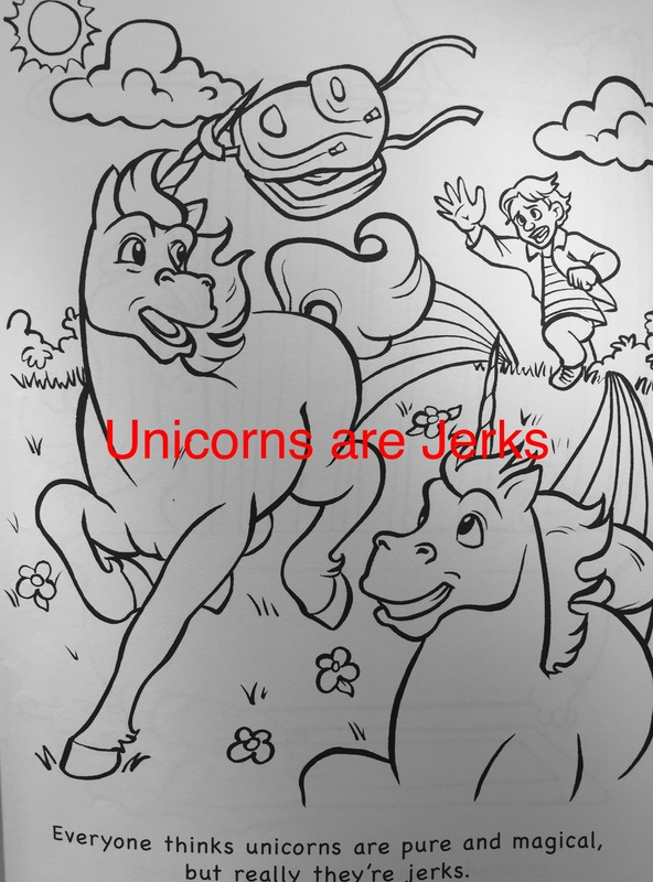 Unicorns Are Jerks By Theo Nicole Lorenz Colour With Claire